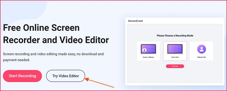 How to Edit Recorded Video on Mac - Step 1