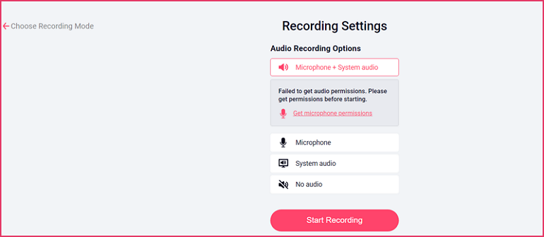 How to Record Screen on Mac with RecordCast - Step 3